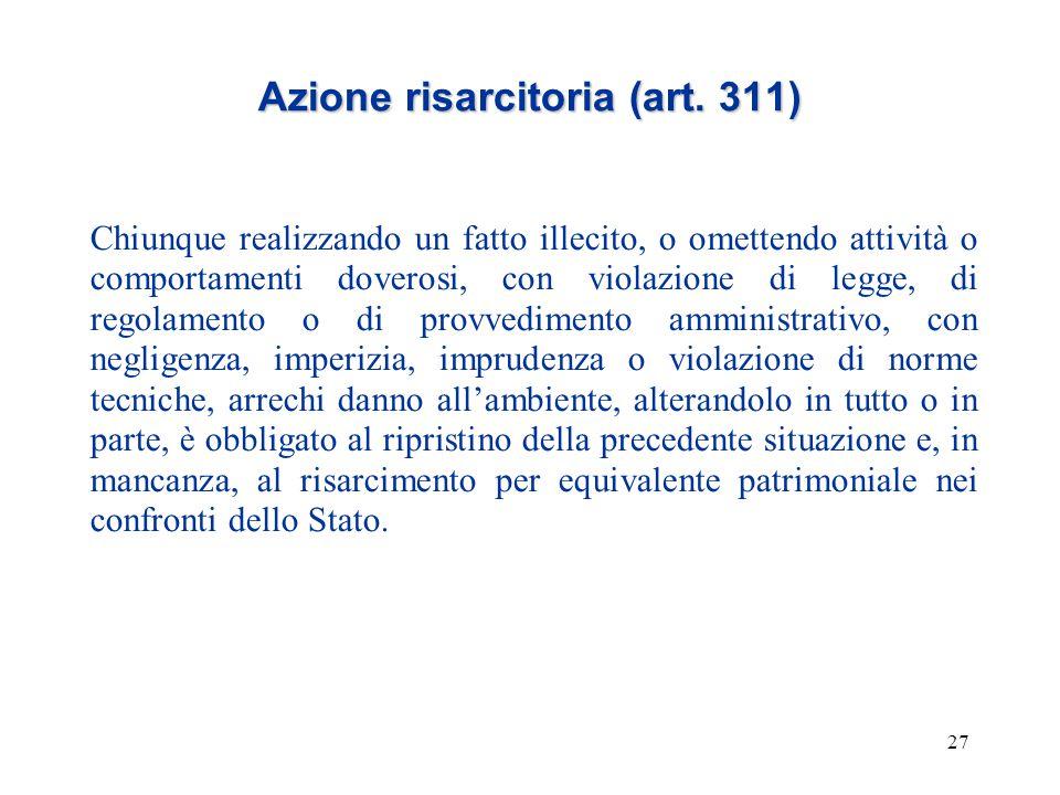 Azione risarcitoria (art. 311)