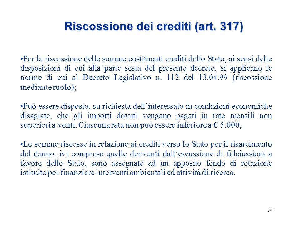 Riscossione dei crediti (art. 317)