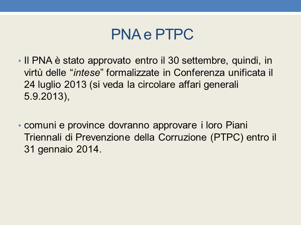 PNA e PTPC