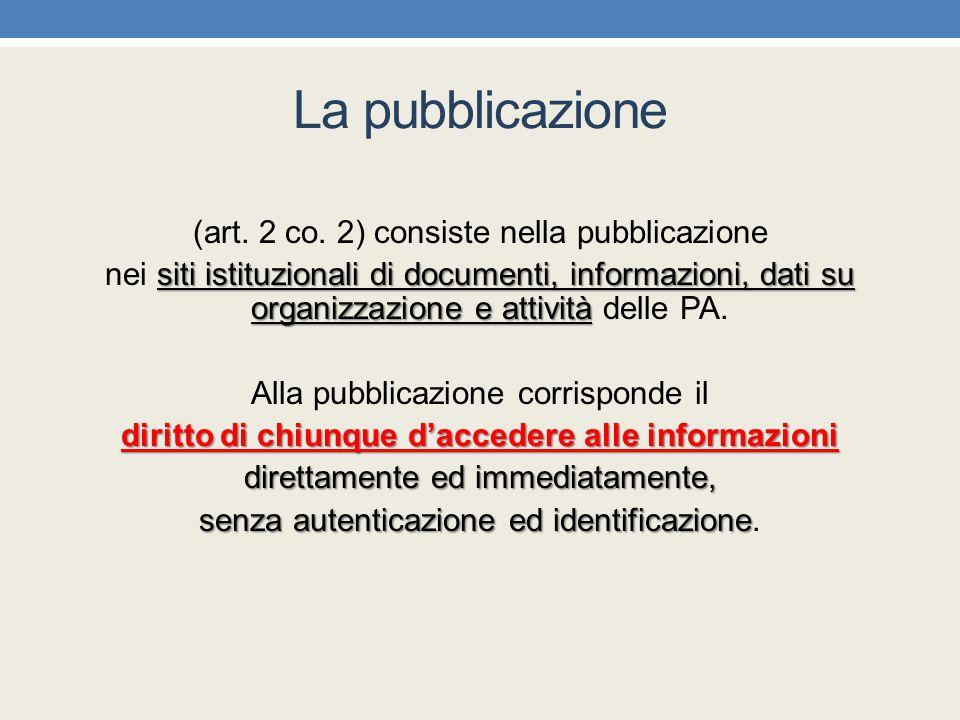diritto di chiunque d'accedere alle informazioni