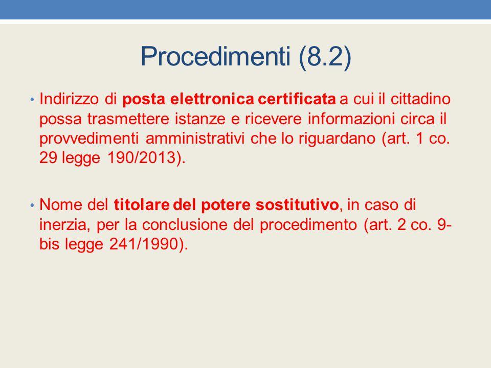 Procedimenti (8.2)