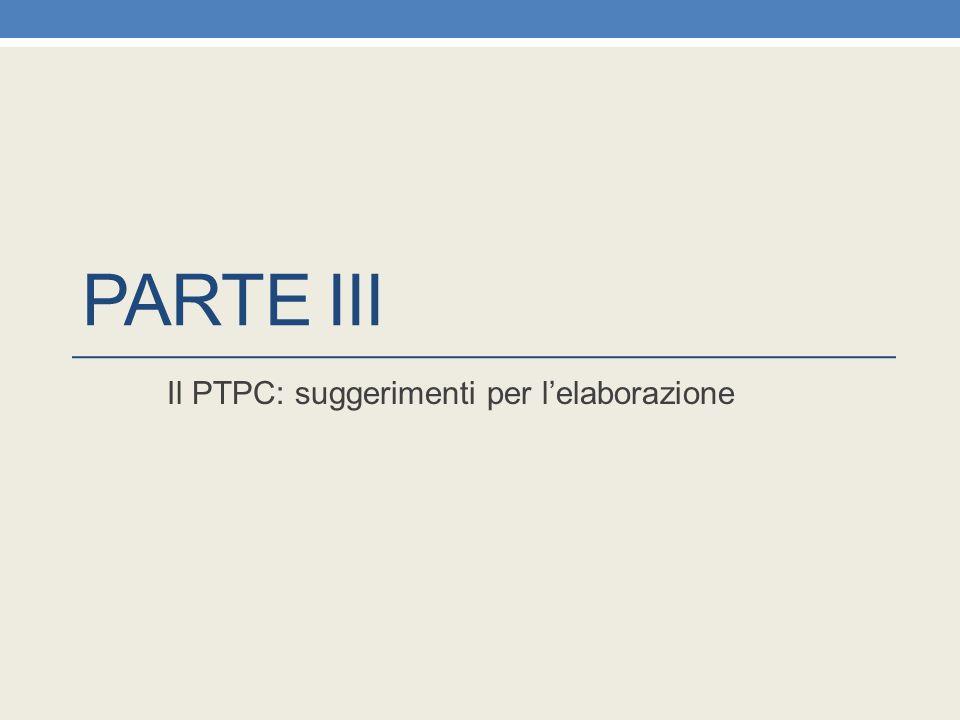 Il PTPC: suggerimenti per l'elaborazione