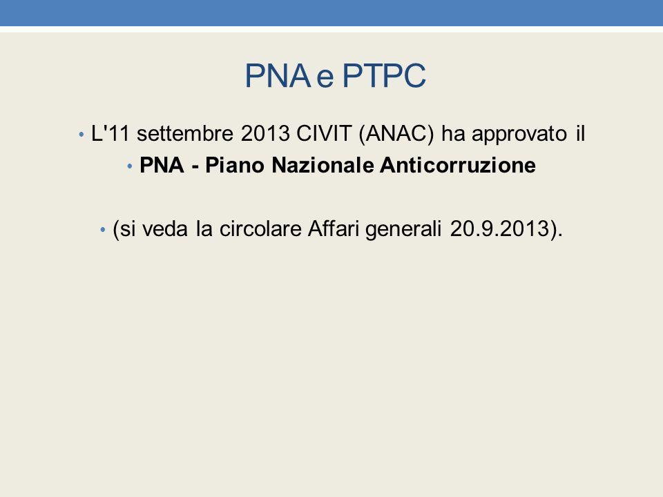 PNA - Piano Nazionale Anticorruzione
