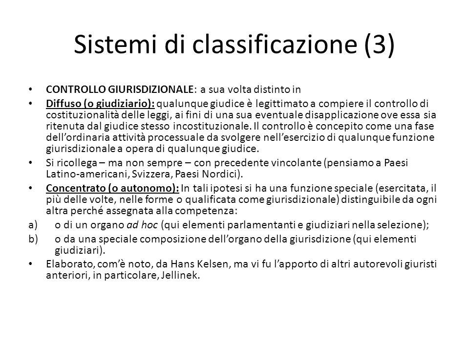 Sistemi di classificazione (3)