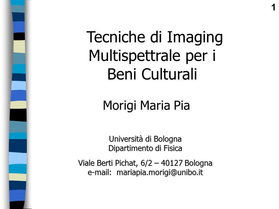 Tecniche di Imaging Multispettrale per i Beni Culturali