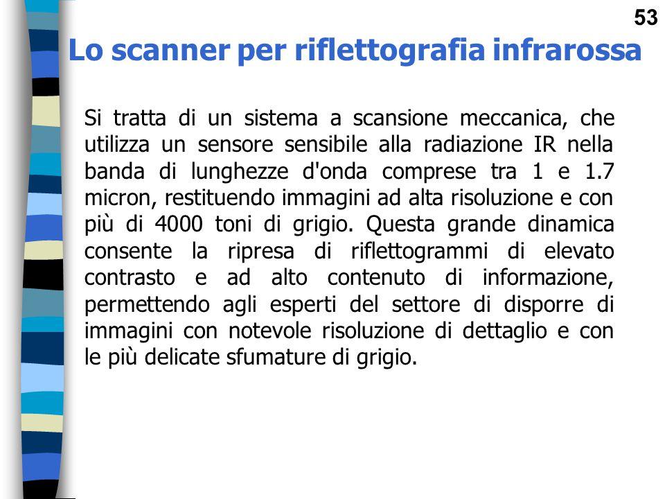 Lo scanner per riflettografia infrarossa