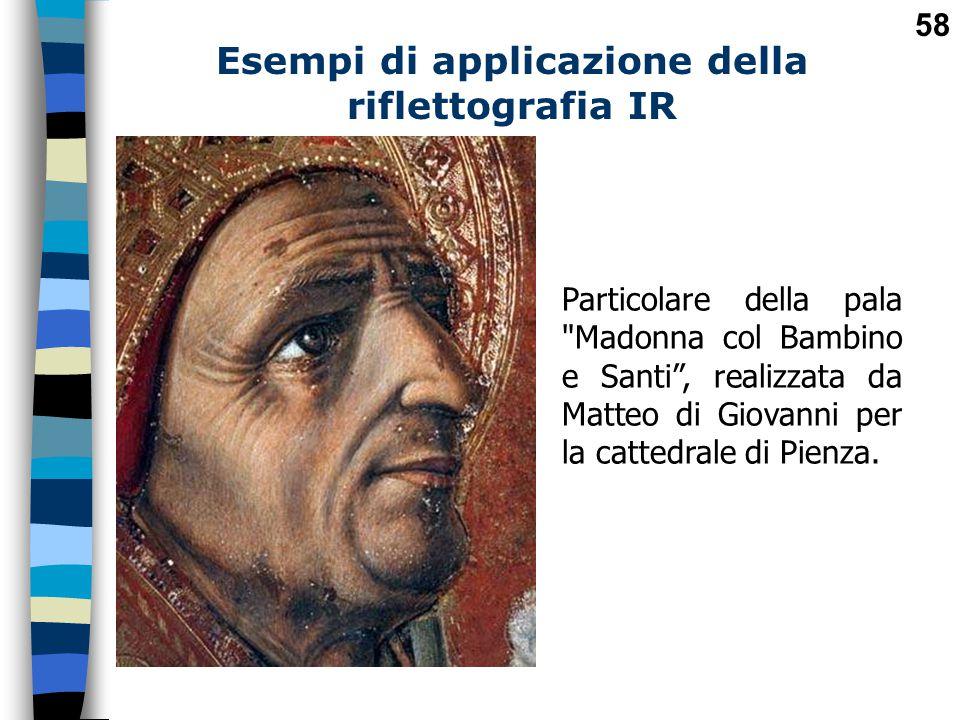 Esempi di applicazione della riflettografia IR