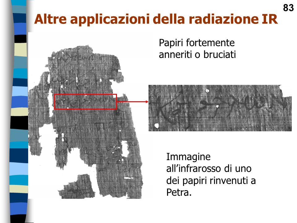 Altre applicazioni della radiazione IR
