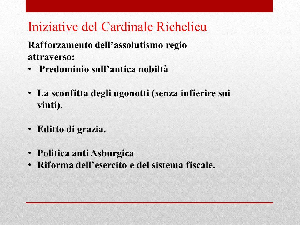 Iniziative del Cardinale Richelieu