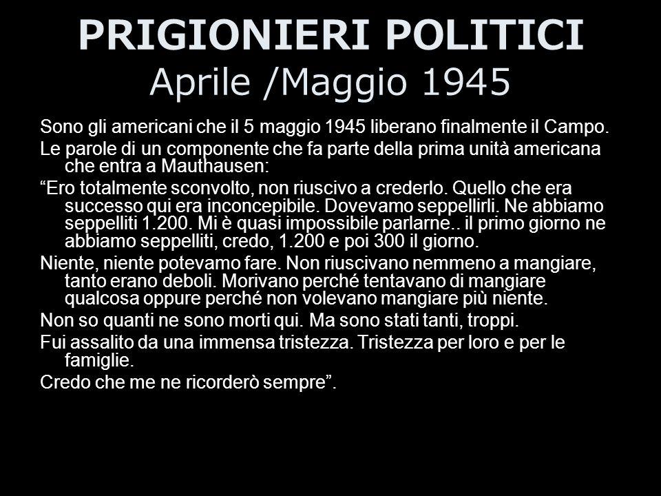 PRIGIONIERI POLITICI Aprile /Maggio 1945
