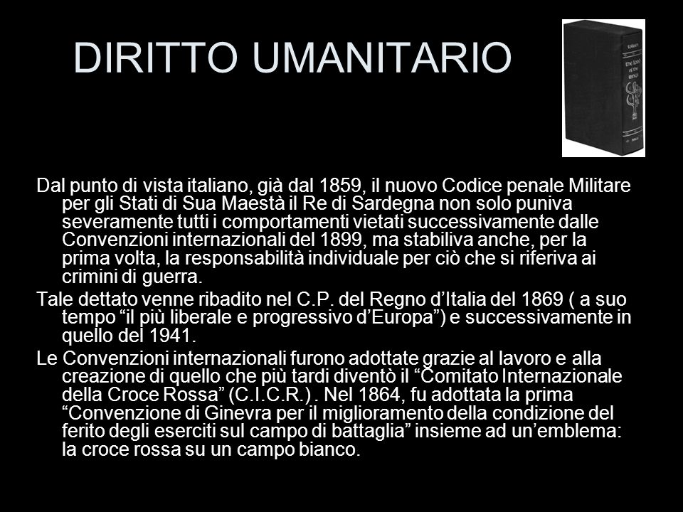 DIRITTO UMANITARIO