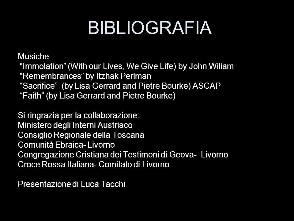 BIBLIOGRAFIA Musiche: