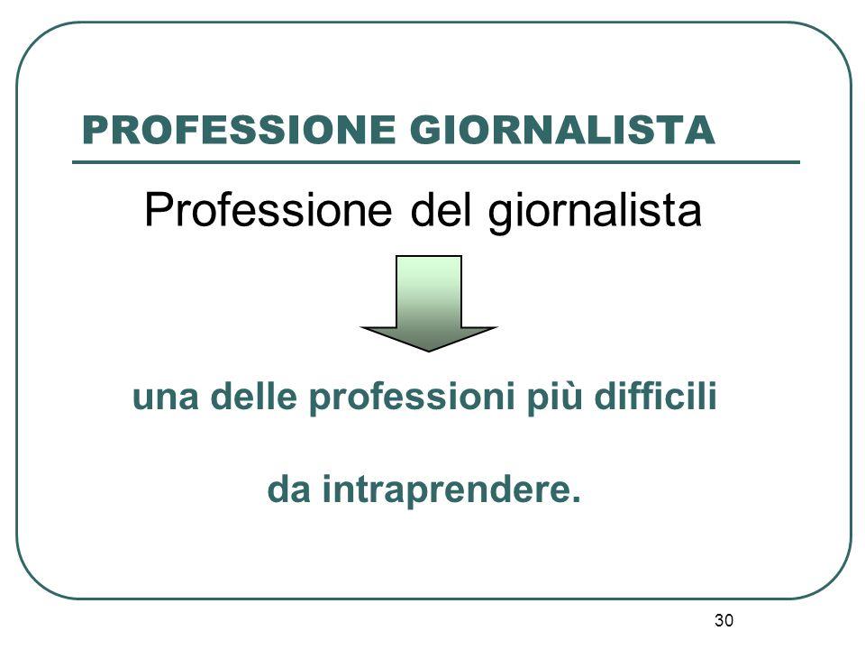 PROFESSIONE GIORNALISTA