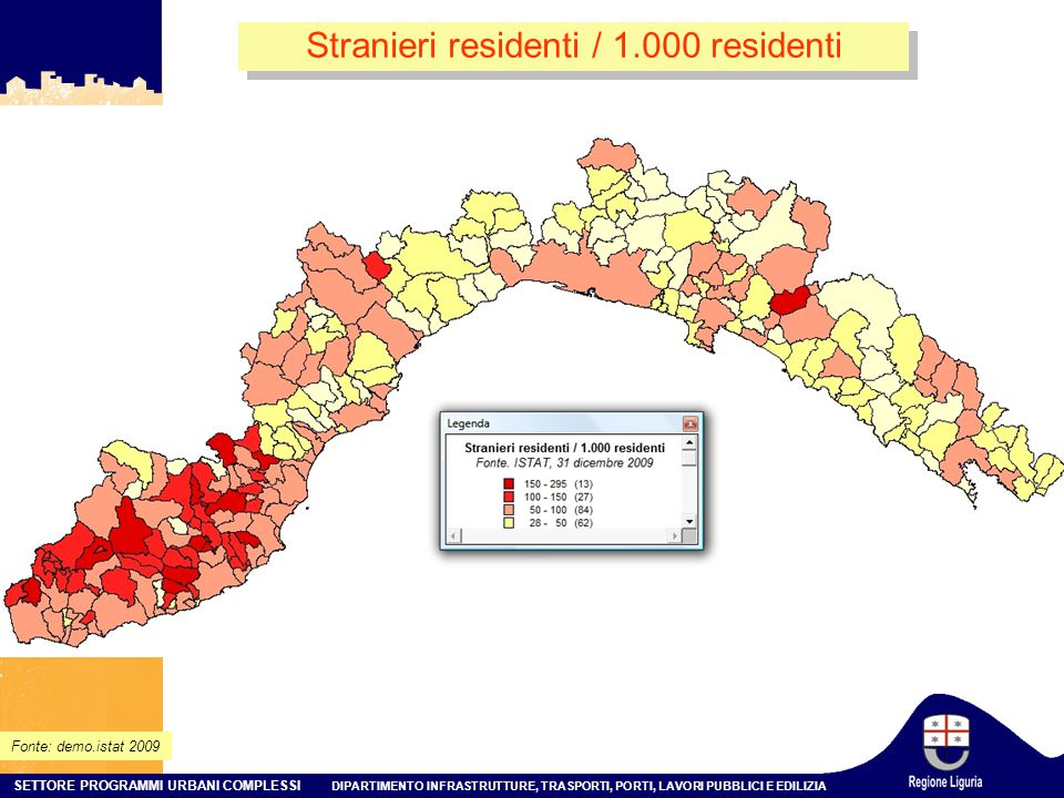 Stranieri residenti / 1.000 residenti