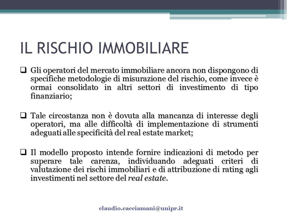 IL RISCHIO IMMOBILIARE
