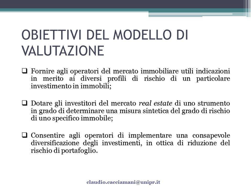 OBIETTIVI DEL MODELLO DI VALUTAZIONE