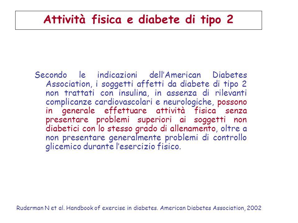 Attività fisica e diabete di tipo 2