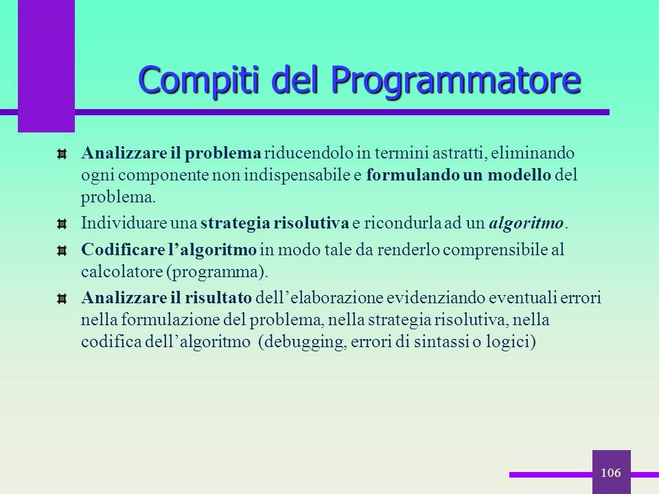 Compiti del Programmatore