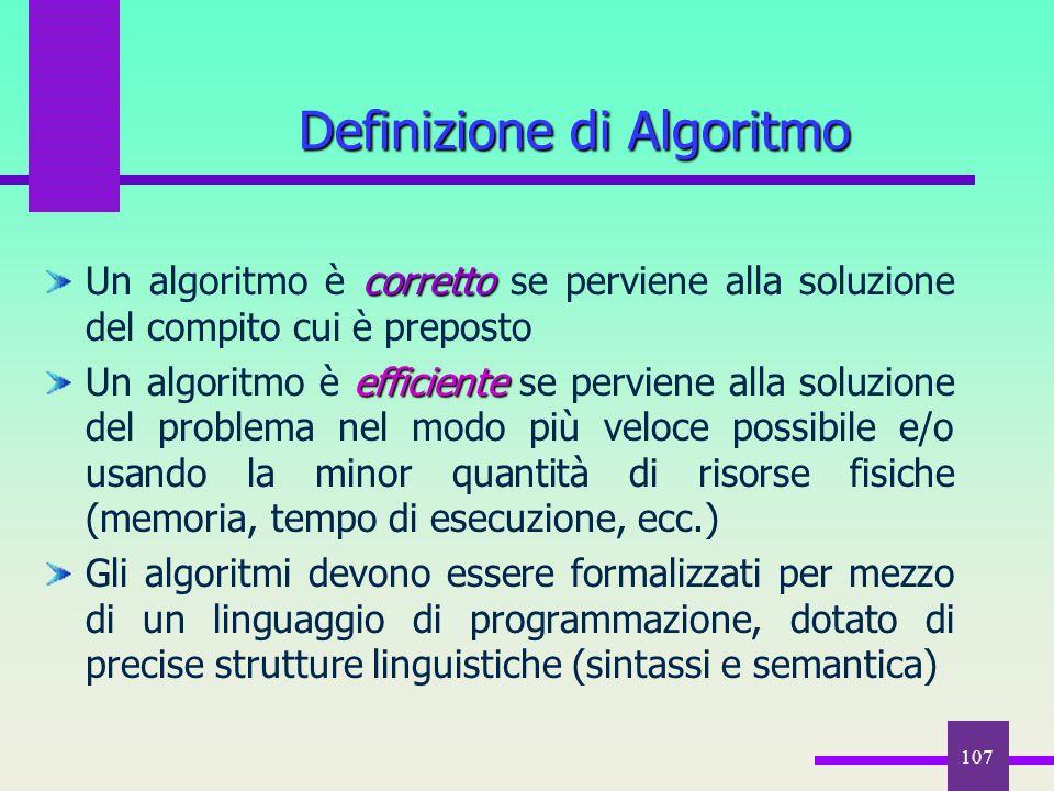 Definizione di Algoritmo