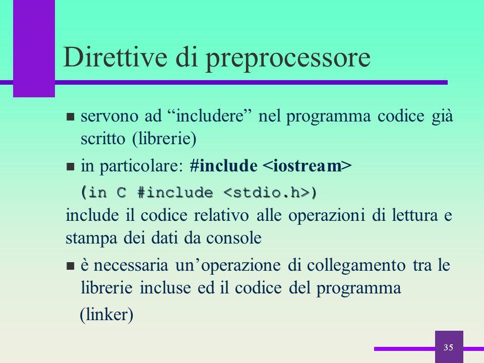 Direttive di preprocessore