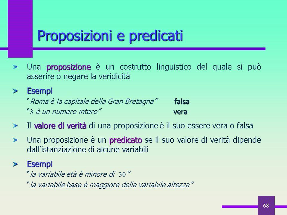 Proposizioni e predicati