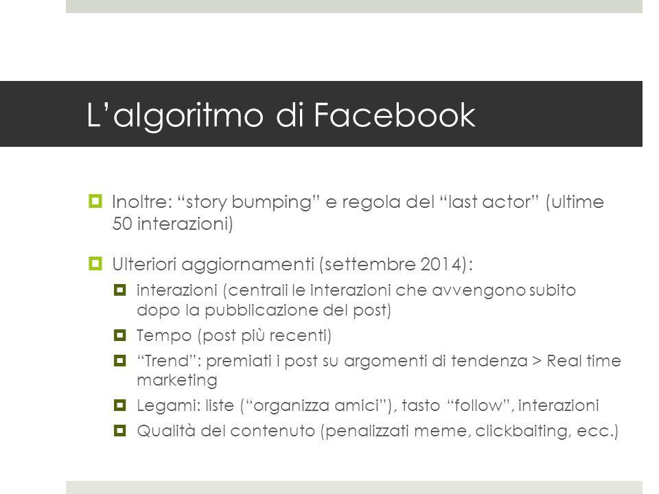 L'algoritmo di Facebook