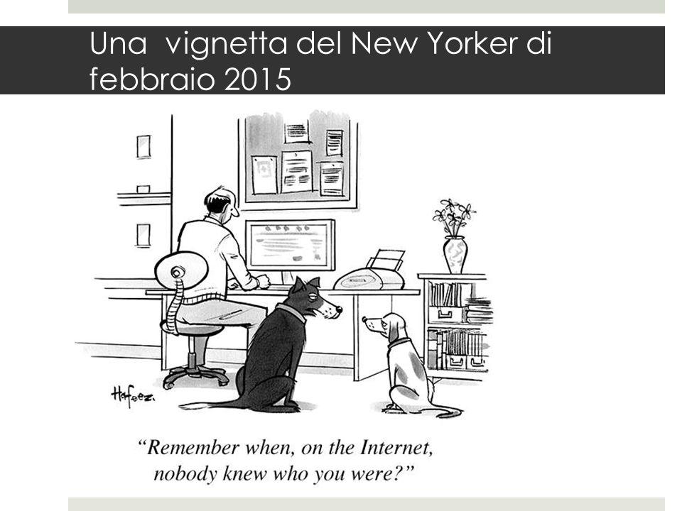 Una vignetta del New Yorker di febbraio 2015