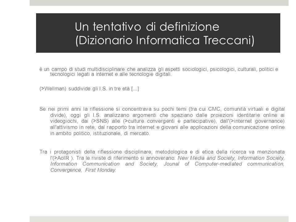Un tentativo di definizione (Dizionario Informatica Treccani)
