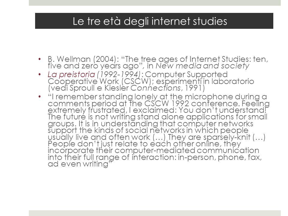 Le tre età degli internet studies