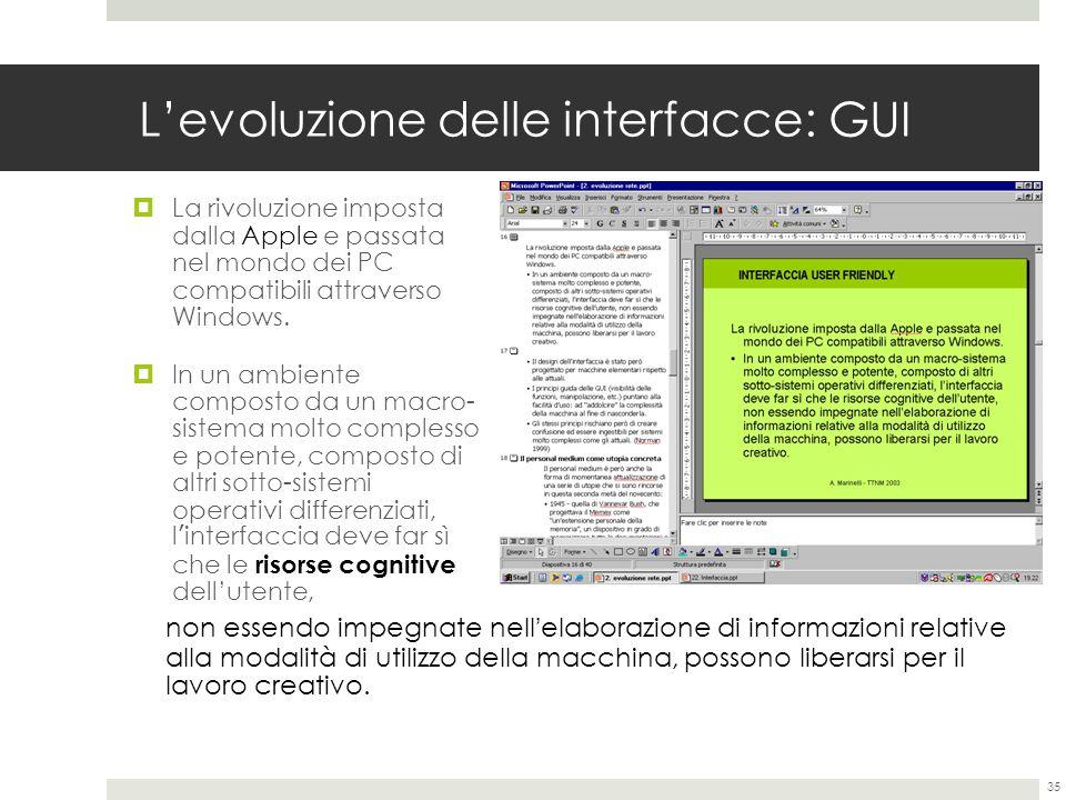 L'evoluzione delle interfacce: GUI
