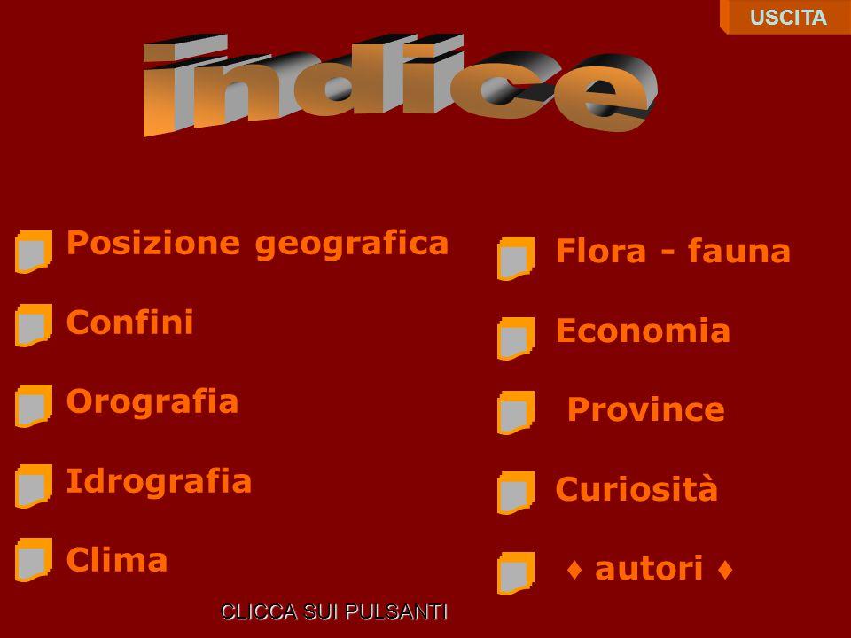 indice Posizione geografica Flora - fauna Confini Economia Orografia