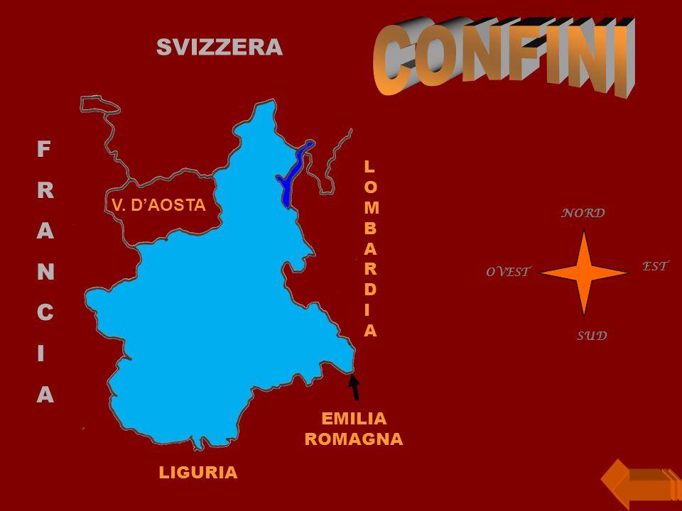 CONFINI SVIZZERA F R A N C I LIGURIA LOMBARDIA V. D'AOSTA SUD