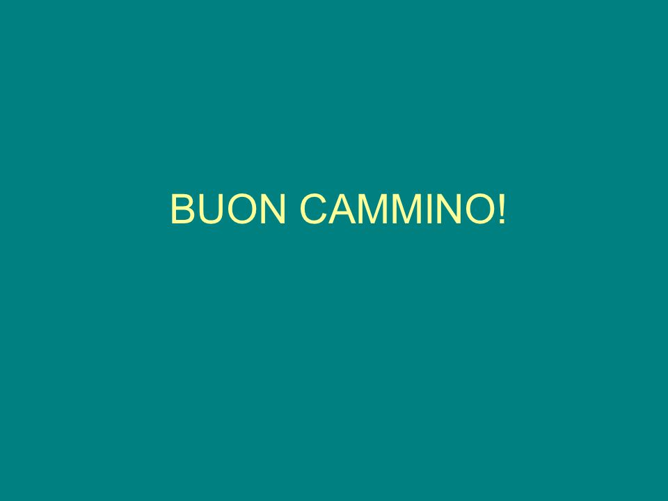 BUON CAMMINO!