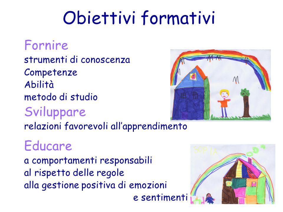 Obiettivi formativi Fornire Sviluppare Educare strumenti di conoscenza
