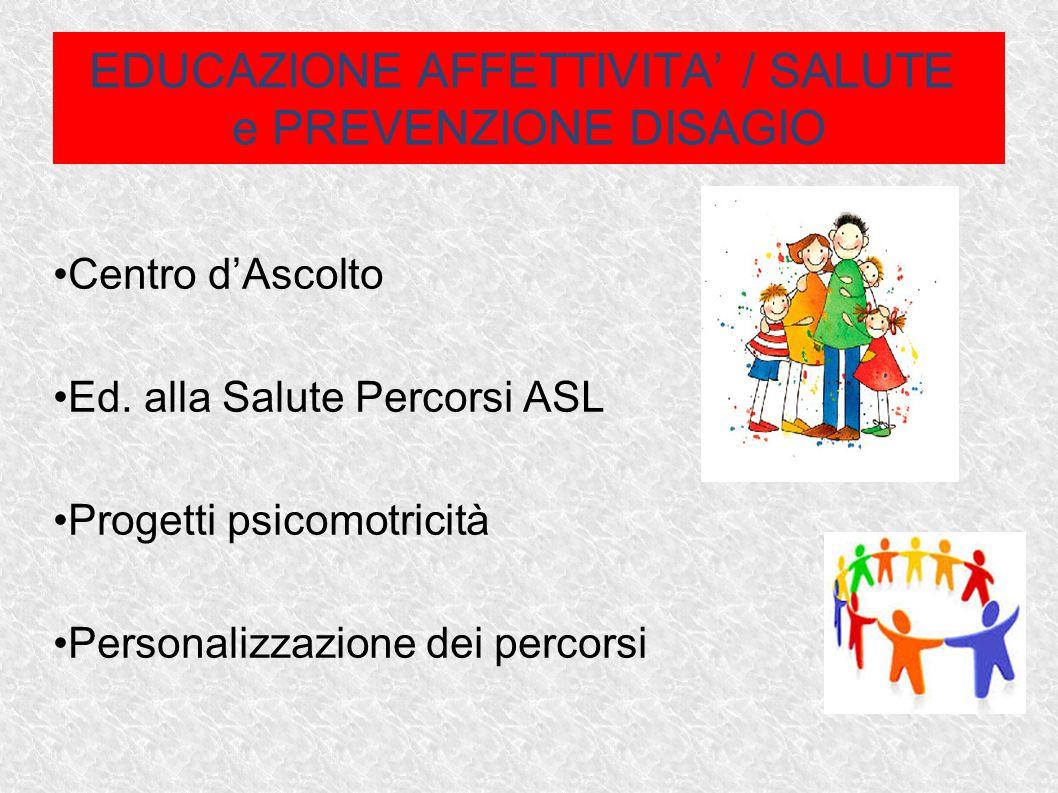 EDUCAZIONE AFFETTIVITA' / SALUTE e PREVENZIONE DISAGIO