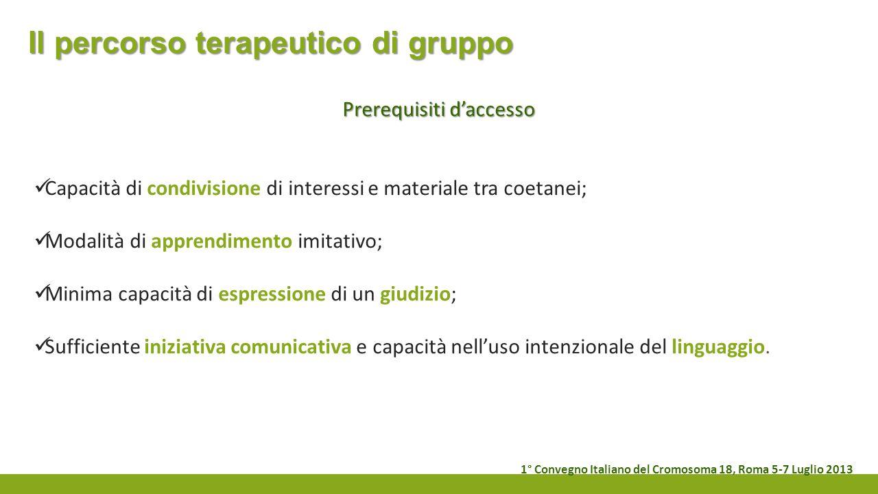 Il percorso terapeutico di gruppo