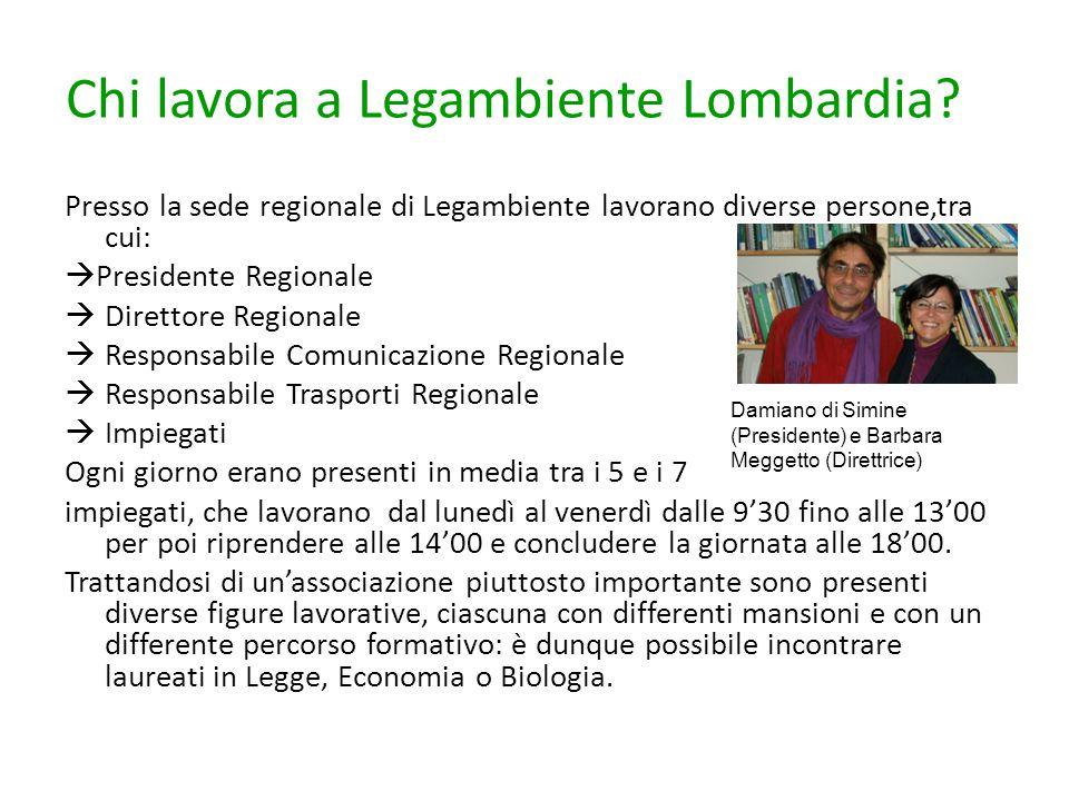 Chi lavora a Legambiente Lombardia