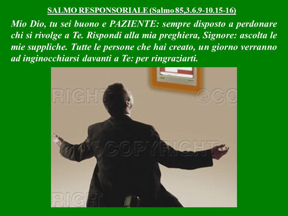 SALMO RESPONSORIALE (Salmo 85,3.6.9-10.15-16)