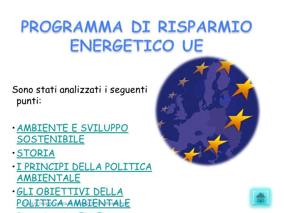 PROGRAMMA DI RISPARMIO ENERGETICO UE