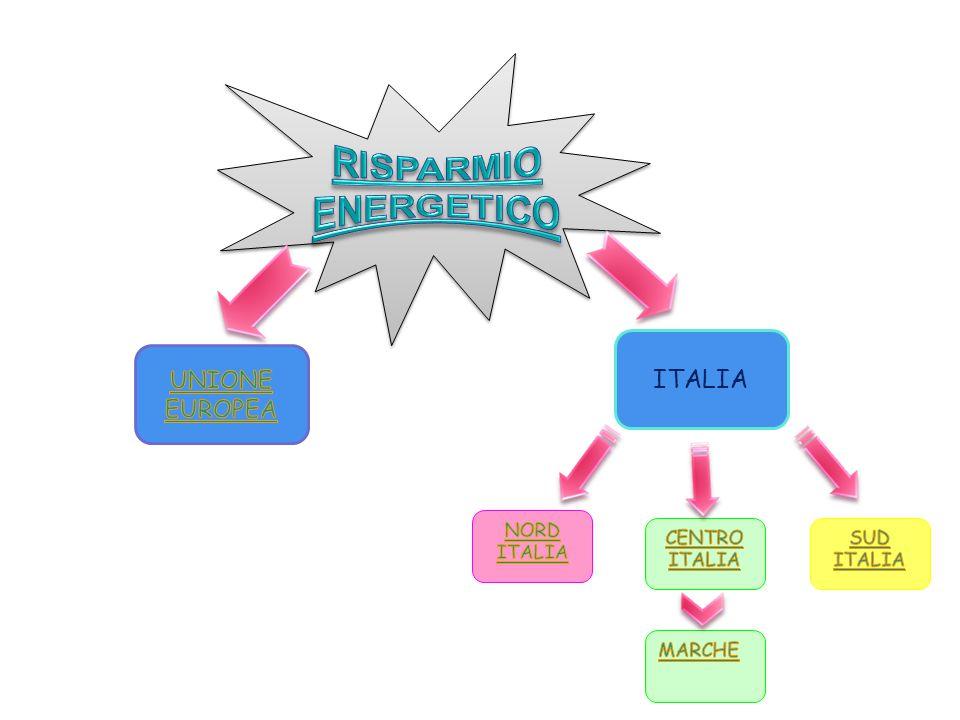 ITALIA RISPARMIO ENERGETICO UNIONE EUROPEA NORD ITALIA CENTRO ITALIA