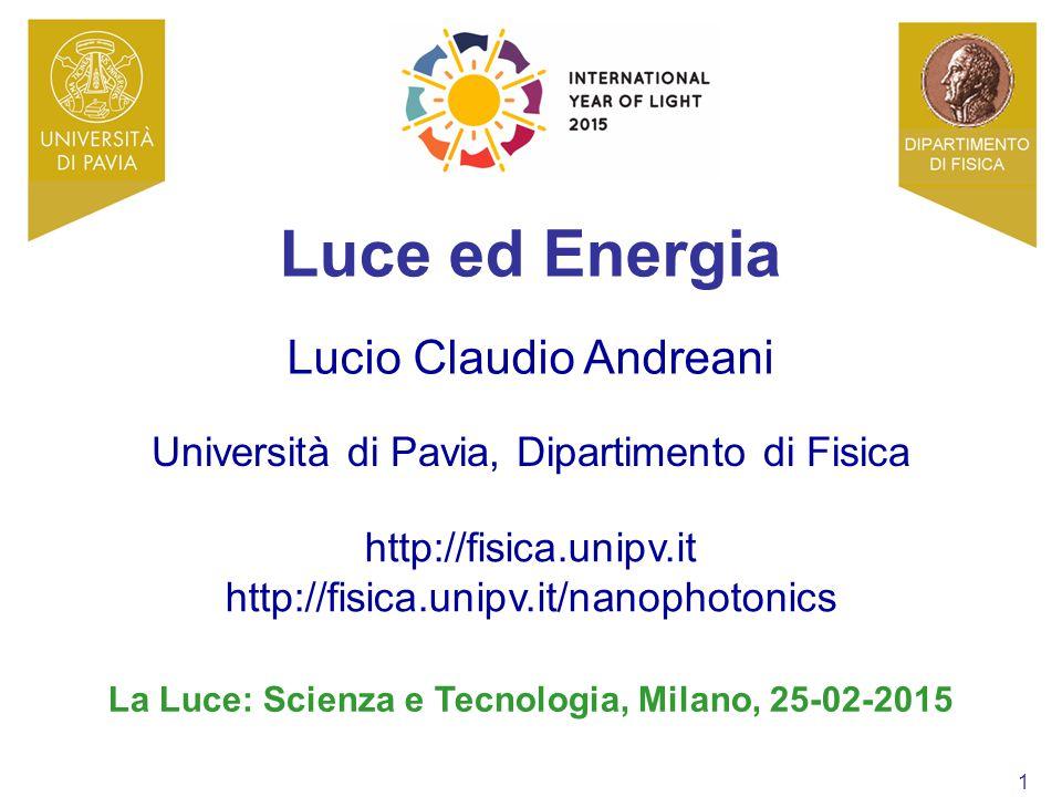 La Luce: Scienza e Tecnologia, Milano, 25-02-2015