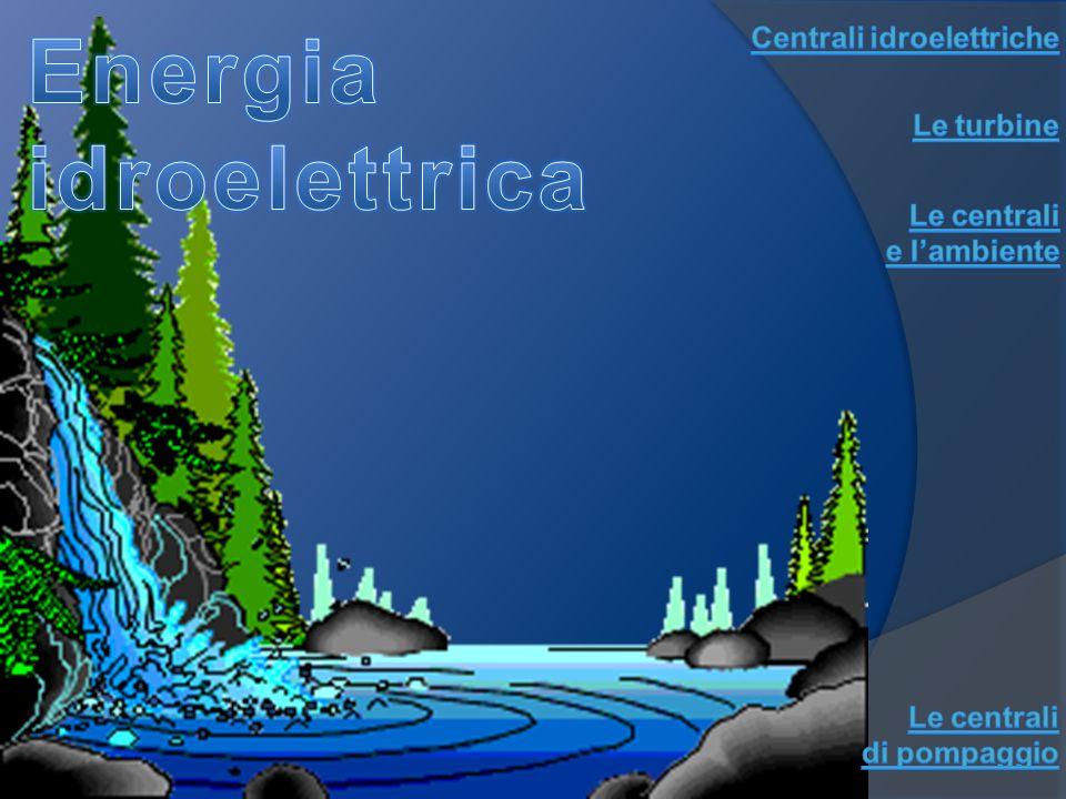 Energia idroelettrica Centrali idroelettriche Le turbine Le centrali