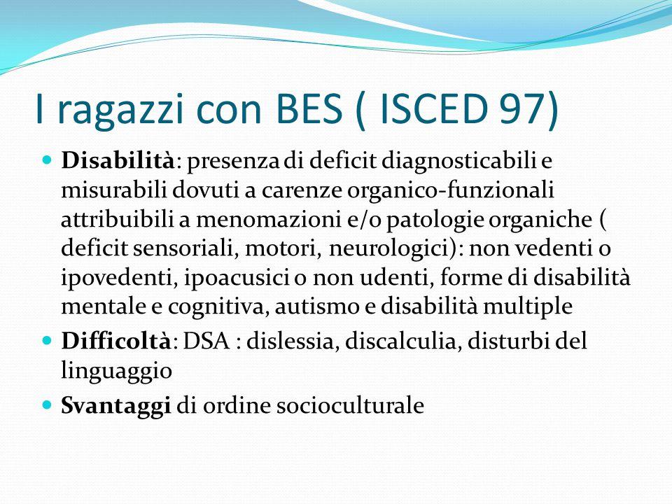 I ragazzi con BES ( ISCED 97)