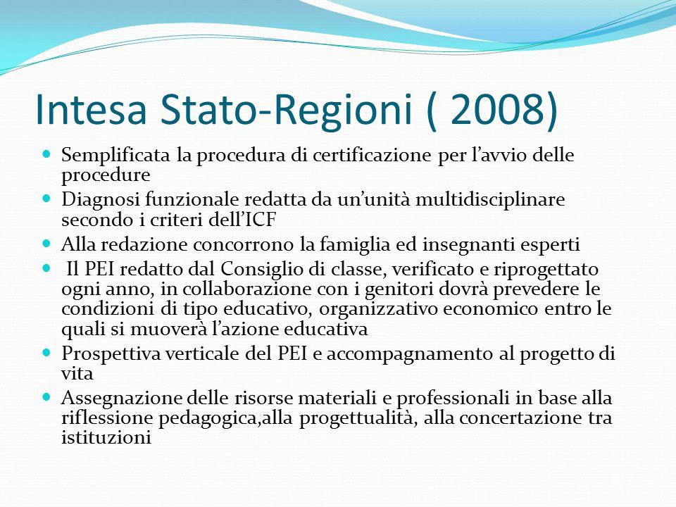 Intesa Stato-Regioni ( 2008)