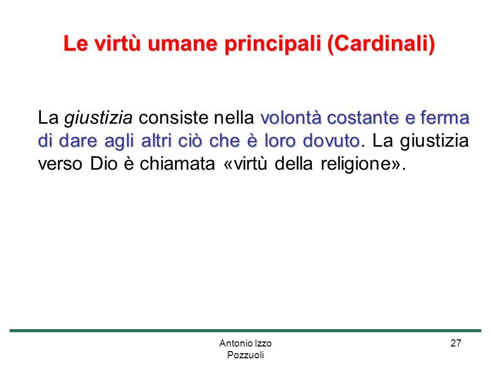 Le virtù umane principali (Cardinali)