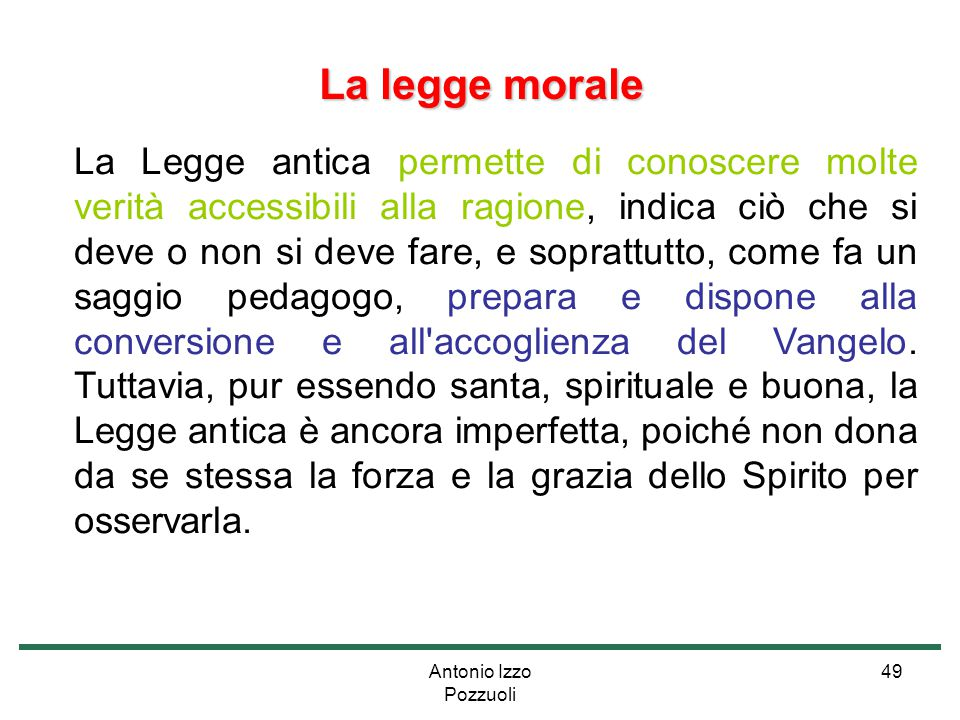 La legge morale