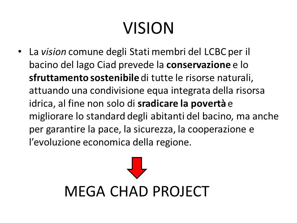VISION MEGA CHAD PROJECT