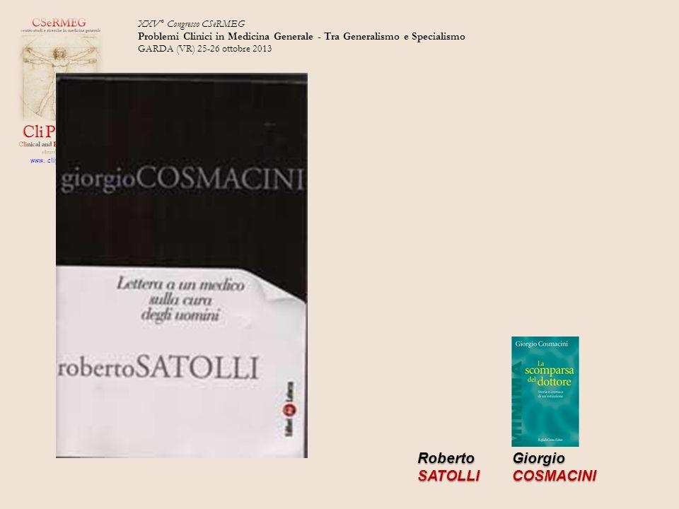 Roberto SATOLLI Giorgio COSMACINI