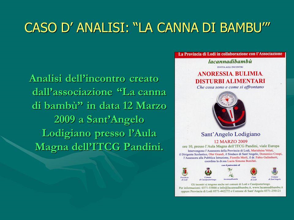 CASO D' ANALISI: LA CANNA DI BAMBU'