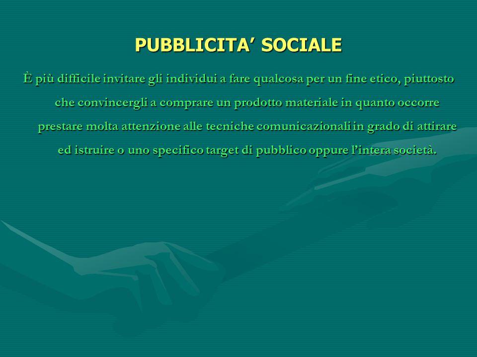 PUBBLICITA' SOCIALE